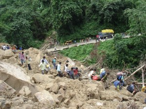 Landslide on NH31A at Kalijhora in the vicinity of TLDP-III in 2007