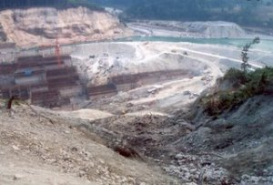 Under-construction TLDP-III at Rambhi, Kalimpong