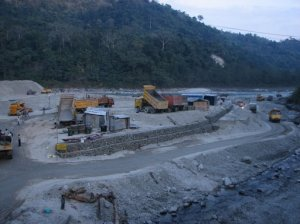 The under-construction Teesta Low Dam Project-V in Sikkim
