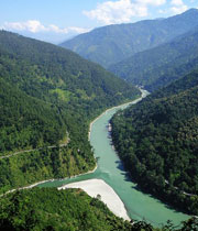 A view of the Teesta River