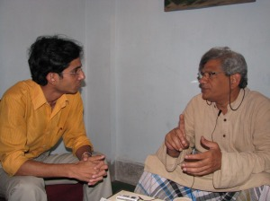 During the interview with Sitaram Yechuri on 20 April 2009