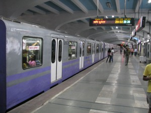 A Kolkata Metro train. File photo.