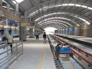 Noapara Metro Railway station, Kolkata.