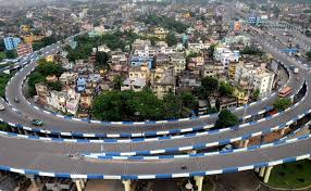 A view of Howrah skyline from HRBC Building