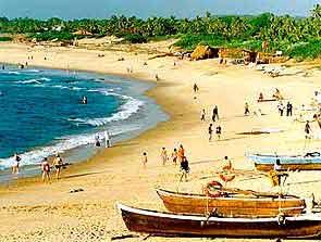 A poular sea beach in Goa