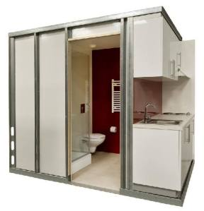 A prefabricated washroom