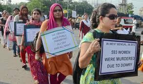 Women protets march Kolkata