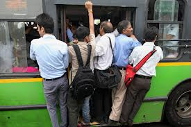 Crowded Kolkata bus