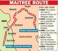 Maitree Express route