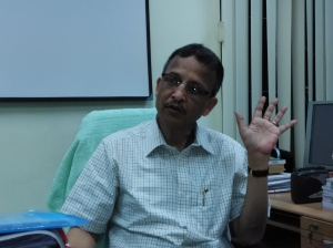 Bengal state election commissioner Sushanta Ranjan Upadhaya. File photo.