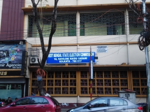 Bengal State Election Commission office on Rawdon Street in Kolkata.
