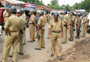 A contingent of Bengal police. File photo.