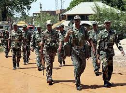 Central force jawans on poll duty. File photo.